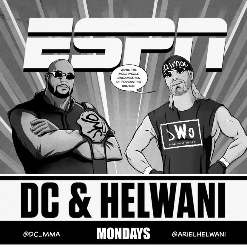 New episode of DC and Helwani is live now, we talk Whittaker vs till, Khamzat and what's next, we talk Hardy vs Dean. Was a good show. https://t.co/Z7J1r0STzz( this episode brought to you by the nose world order) https://t.co/vnEdeXyLzx