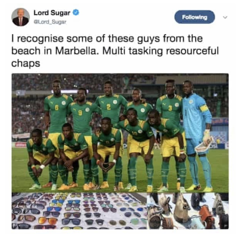 This you yeah? twitter.com/Lord_Sugar/sta…