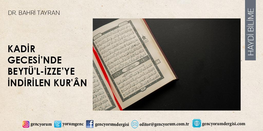 Haydi Bilime sayfamızda bu ay: Kadir Gecesi'nde Beytü'l-İzze'ye indirilen Kur'ân  https://t.co/1cVBLD1l5z  Dr. Bahri Tayran yazdı. #dergi #gencyorum #KadirGecesi #Beytülİzze #Kuran #HzAdem #HzMuhammed #İslam #peygamber #Mekke #Bediüzzaman #RisaleiNur #tevhid #nübüvvet #ilahimesaj https://t.co/e07yPnTtzS