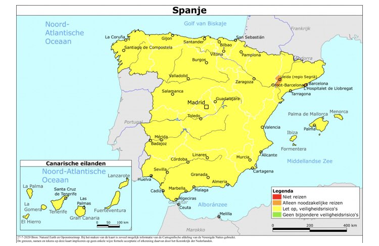 24 7 Bz On Twitter Reisadvies Spanje Vanwege Het Stijgend Aantal Besmettingen Met Het Coronavirus Gaat Het Advies Voor Barcelona En Voorsteden Naar Oranje Vakantiereizen Worden Dringend Afgeraden Ben Je Al In Het