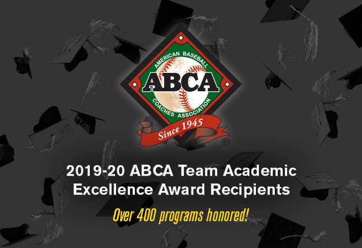 We're pleased to recognize an all-time high 419 programs across the collegiate and high school levels with the 2019-20 ABCA Team Academic Excellence Award! Keep up the great classwork heading into this next school year! FULL RELEASE 📝 abca.org/ABCA/Awards/Ac…