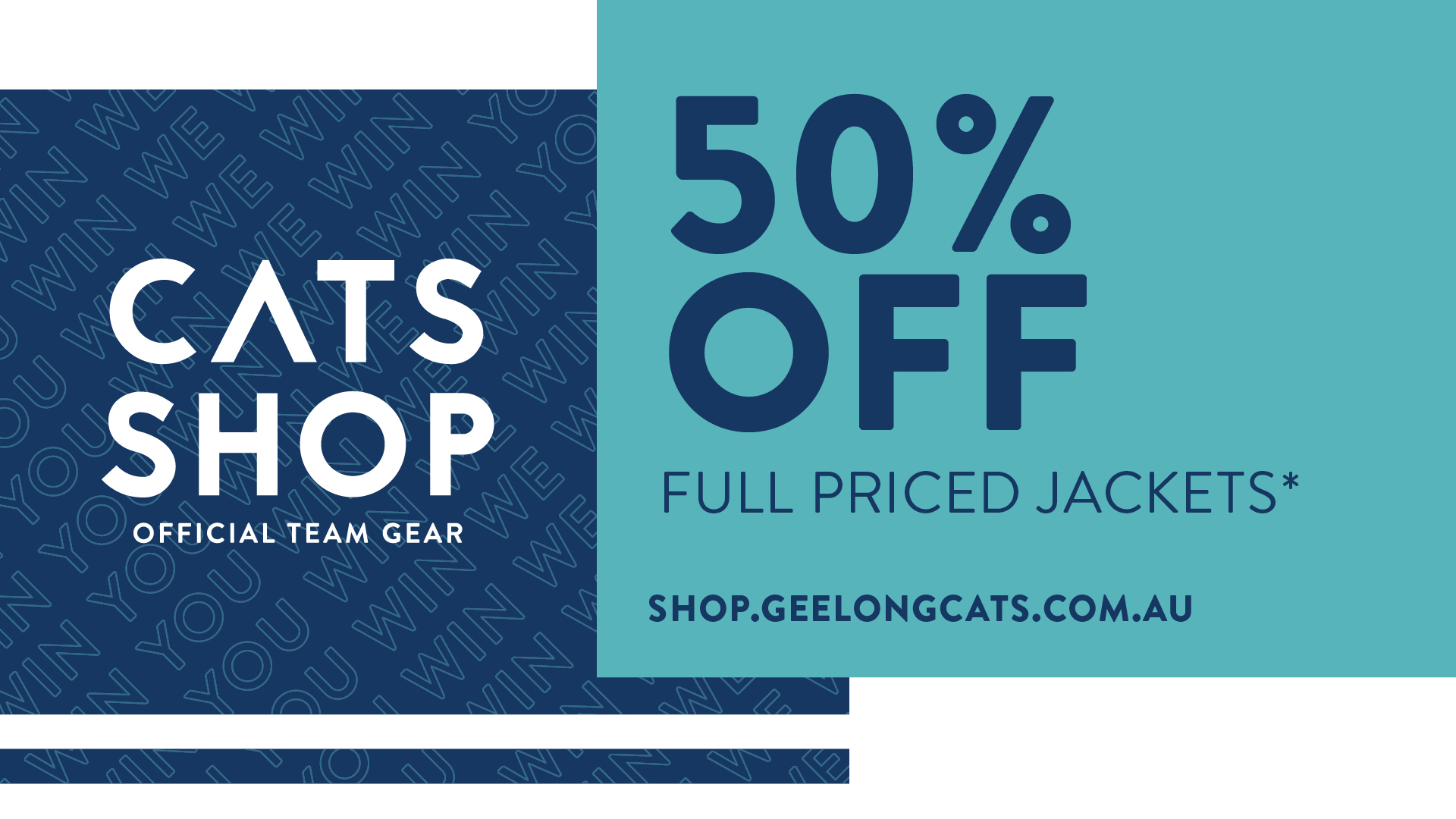 Geelong Cats On Twitter When We Win You Win Grab 50 Off Full Priced Jackets Shop Https T Co Lidr6vq372