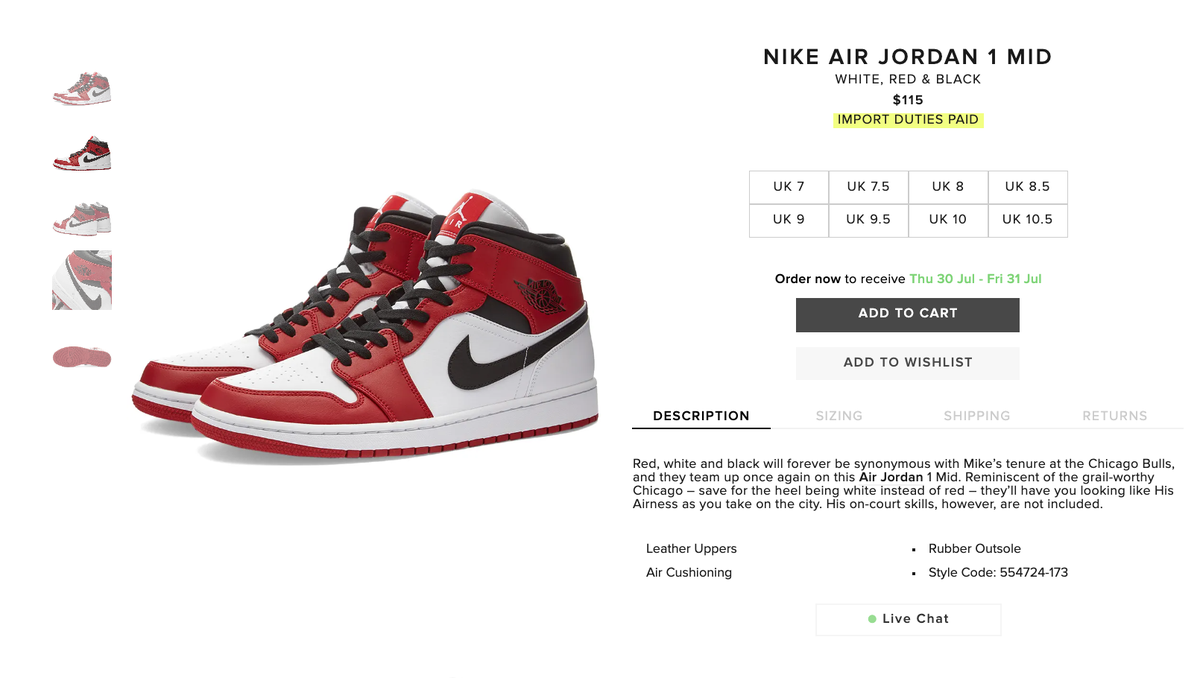Sole Links On Twitter Ad Live Via End Air Jordan 1 Mid Chicago