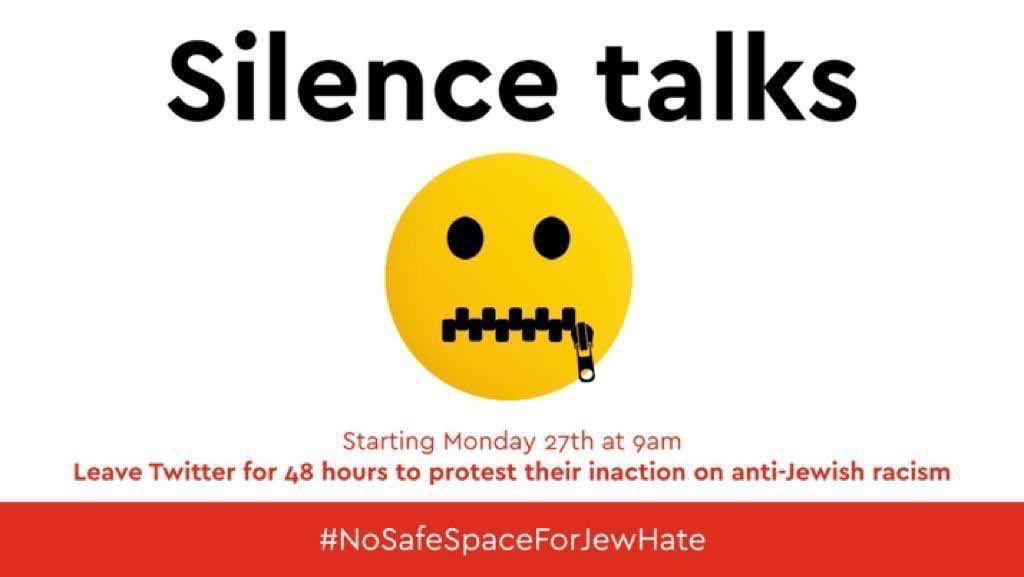 Social media companies must act and act quickly when it comes to dealing with hate speech. #SilenceTalks #NoSafeSpaceForJewHate