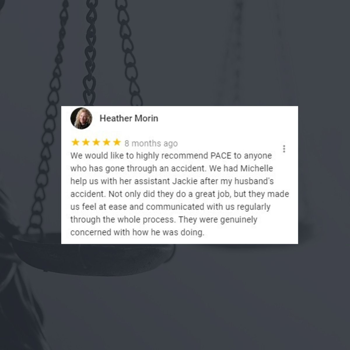 Thank you, Heather, it was our pleasure representing you. We know navigating a personal injury claim is no easy feat. Contact our experienced team of personal injury lawyers and see for yourself how our client first approach makes a world of a difference. https://t.co/kJrclk8tWv https://t.co/U4IG31cSKj