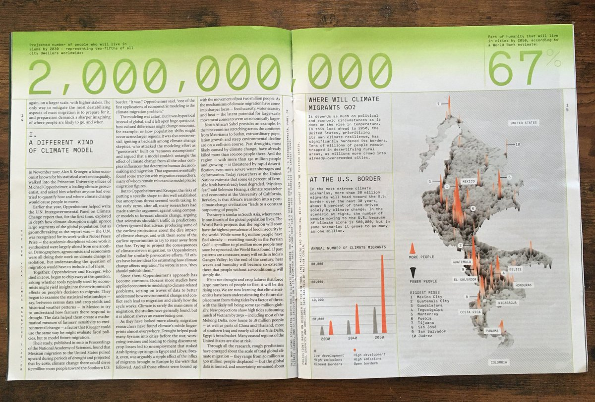 In print, the issue incorporates climate statistics throughout the layout and includes a nice feature of the map https://t.co/sI4oYQxNaF