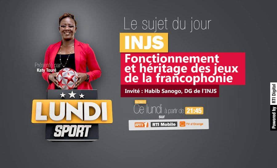 À ne pas rater ce soir dans #LundiSport à 21h45 sur #RTI1  @kattytoure reçoit Habib Sanogo, DG de l'#INJS #RTISPORT https://t.co/pOfuaIlj4c