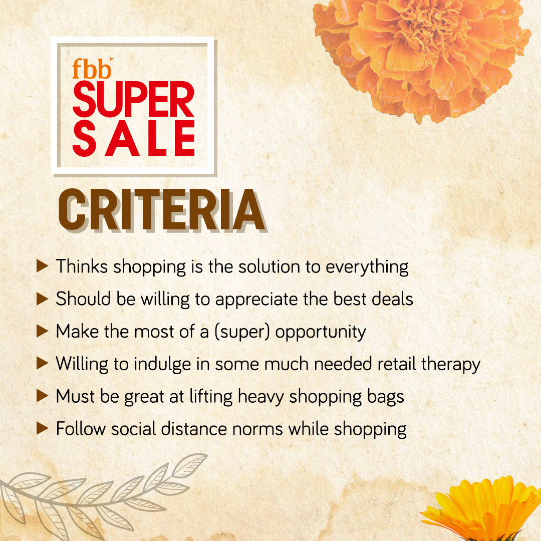 #SuperSale is here and we are as psyched to announce its criterias as you are to match with it!  Avail amazing discounts and offers only at your nearest Big Bazaar and Fbb stores. Know more: https://t.co/OsT88TGu5M https://t.co/MO6s4qNf3K