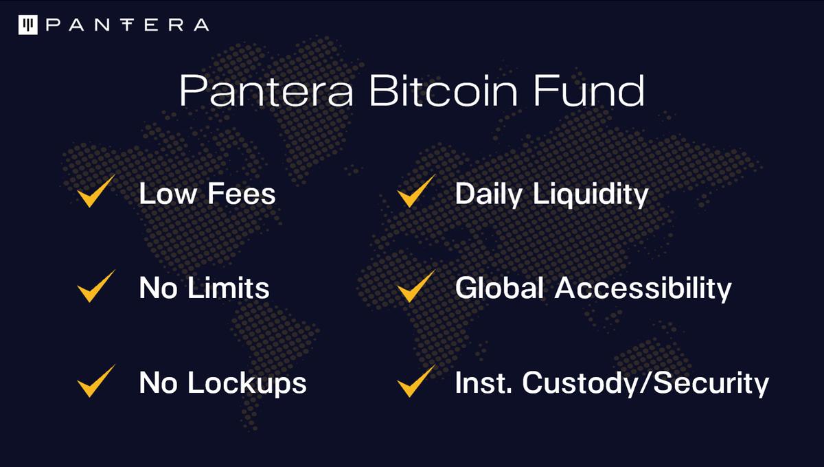 pantera bitcoin fund bitcoin kolekcionieriaus programinė įranga