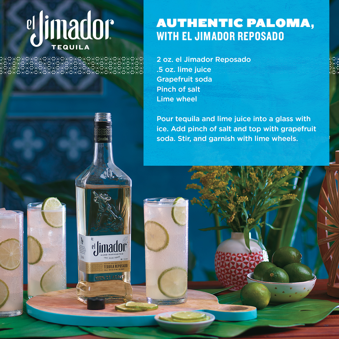 An @ElJimador Paloma is like drinking a glass of summer, all wrapped around a top-five tequila. Share this recipe with your customers and help them keep the summer fun going all year long. https://t.co/Prklii5i6W
