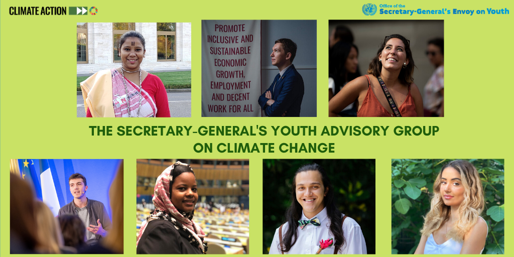 """""""I urge young people everywhere to keep driving #ClimateAction forward. We need you more than ever."""" -- @antonioguterres launching Youth Advisory Group to provide perspectives, ideas & solutions for addressing the climate crisis. bit.ly/3hJ5IT0"""