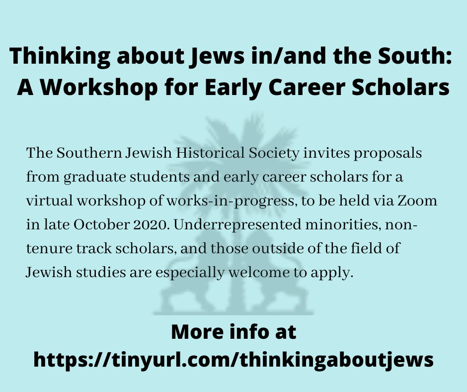 Excited to be organizing this workshop with my colleague @jbparsh. Please share widely, especially among those working in southern studies/southern history! More info at https://t.co/CYlOwGZqCa cc: @JourSouHist @JSReligion @SCquarterly @SouthernSpaces @HNetSAWH @TheSouthernSHA https://t.co/JFf474Jj1j