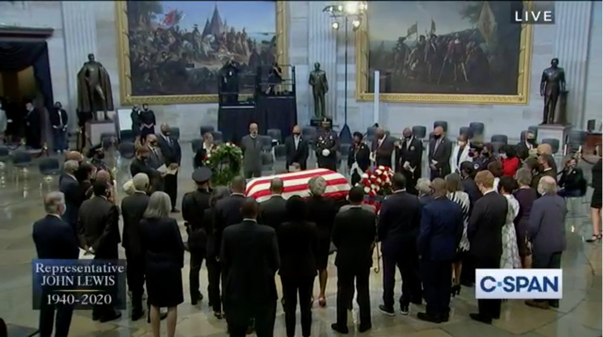 John Lewis was one of a kind. And today as I paid my respects in the Capitol, I was reminded of his leadership and grace that guided much of Congress's most meaningful and important work. Now, in his honor, we must endure.