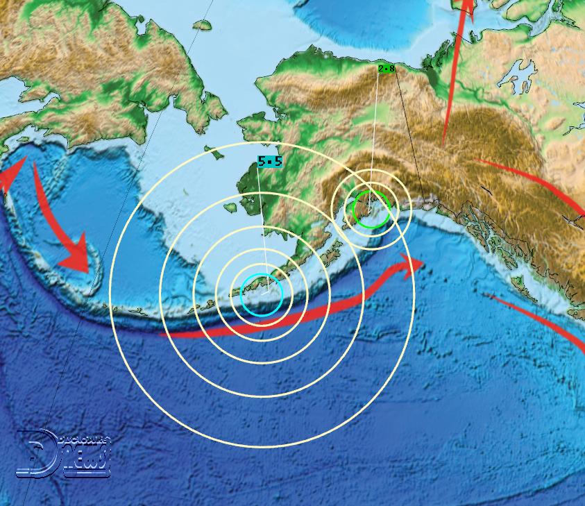 News Burst 28 July 2020 - New M5.5 in the Alaskan Peninsula