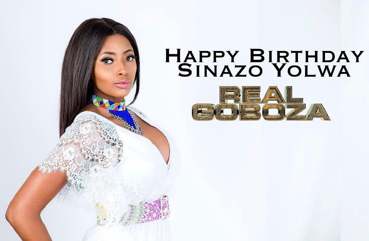 On this day a Queen was born 👑  Happy birthday to our First Lady @SinazoYolwa, here's to many more marvelous years ahead.🥂✨ #RealGoboza https://t.co/p0YwuZg4I4