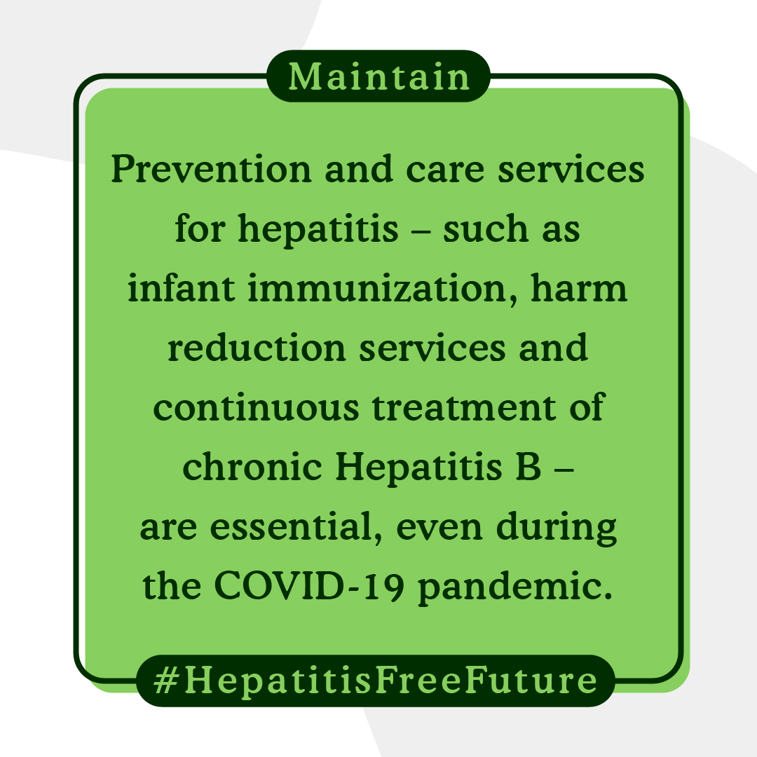 Prevention & care services for hepatitis are essential even during the #COVID19 pandemic. On Tuesdays #WorldHepatitisDay, see how @WHO is working towards eliminating viral hepatitis as a public health threat by 2030. bit.ly/30RCTwV