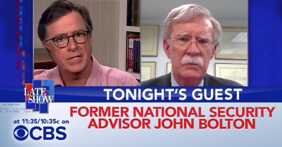 TONIGHT: Former National Security Advisor @AmbJohnBolton sits down with Stephen. #LSSC