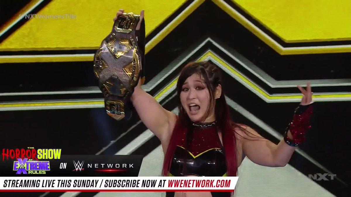 From one opponent to the next...  @DakotaKai_WWE wants NeXT, @shirai_io! #WWENXT #NXTWomensTitle https://t.co/Gn5VZIGYtT