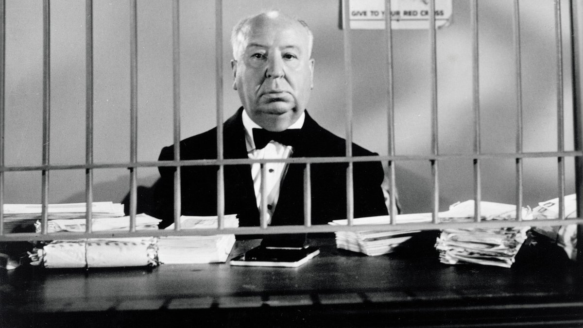 Deadpanning a witty intro to Alfred Hitchcock Presents