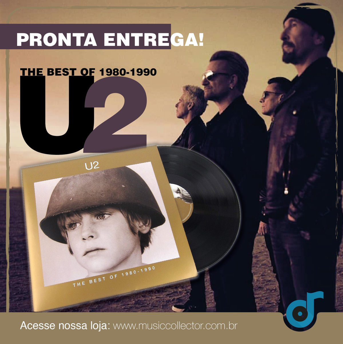 """Teremos fãs do #U2 por aqui? Sim!  A partir do dia 31/07, vocês vão poder adquirir o """"THE BEST OF 1980-1990"""" na nossa loja. Direto para a sua coleção!   #u2brasil #musiccollector #coleção #musiccollection #vinil #lp #discodevinil #vinillovers #u2thebestofpic.twitter.com/A1YSDAlixS"""