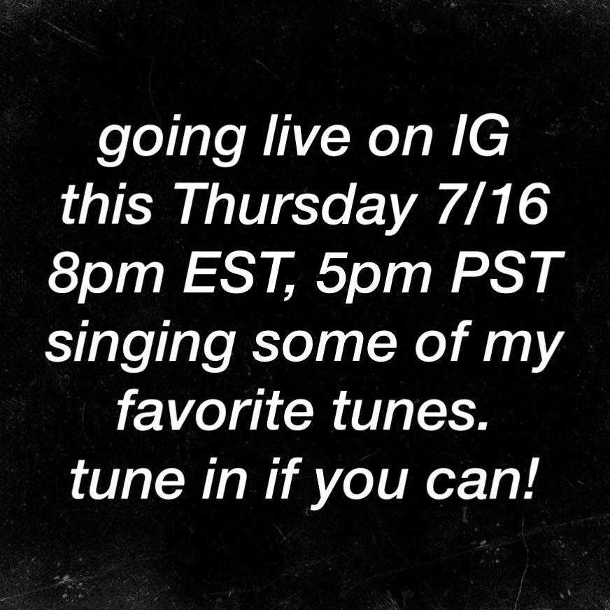 IG live tomorrow at 8pm EST! 😎 https://t.co/vVANlA3rr6