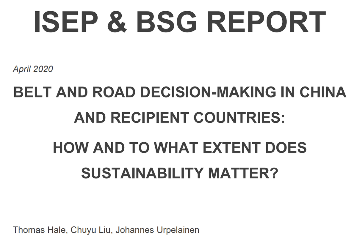 Look, our  @sais_isep research w/  @thomasnhale on China's investments uncovered instances where the recipients specifically asked China to help build the most polluting coal-fired power plants available. Read the report yourself: https://sais-isep.org/wp-content/uploads/2020/04/ISEP-BSG-BRI-Report-.pdf (6/N)