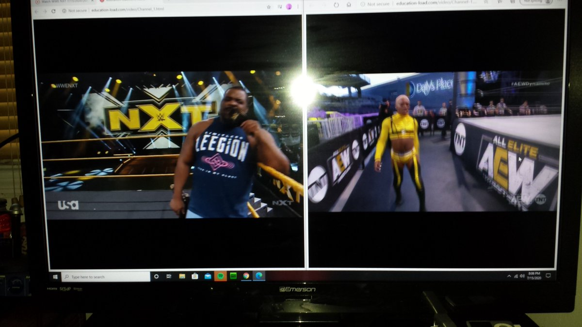 @RealKeithLee and @SonnyKissXO at the Same Damn Time!!! #wwenxt #AEWFightForTheFallen  #FortheCulture https://t.co/dj7Q6Nyisy