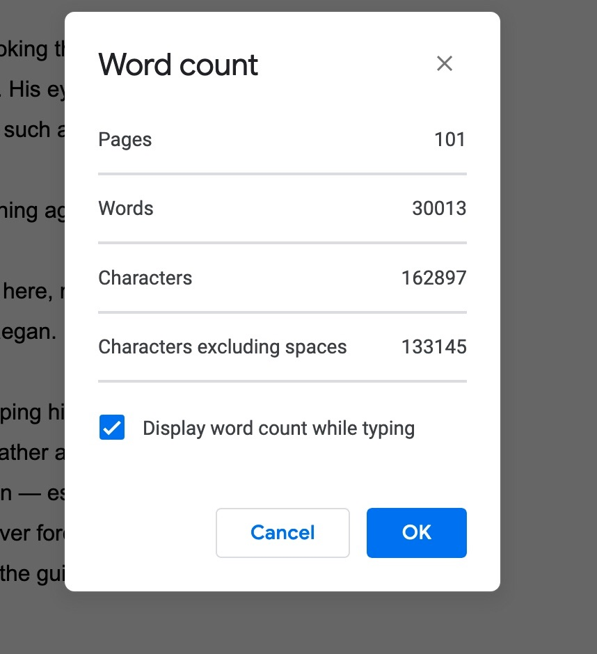 I finally hit the 30k mark! Not done writing for the day yet but I'm happy that I finally got to that point! I only have 44,987 words to my 75k goal! #amwritingfantasy #writingcommunitypic.twitter.com/arC1TaRgQk