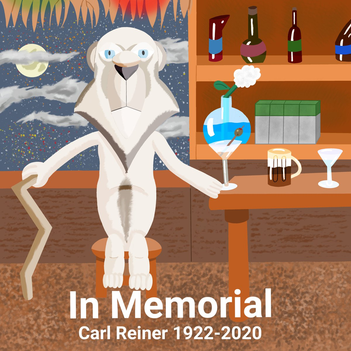 I got an anonymous request to make a tribute for the recently deceased Carl Reiner as his character Sarmoti from Father Of The Pride. #requestart #fatherofthepride #carlreiner https://t.co/Zzk0IeqVEM