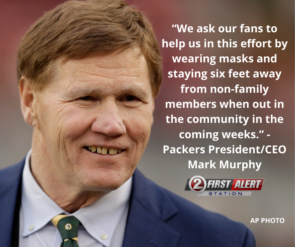 ATTENTION PACKERS FANS: The team is asking you to wear a mask so fans can attend games this season.  #GoPackGo