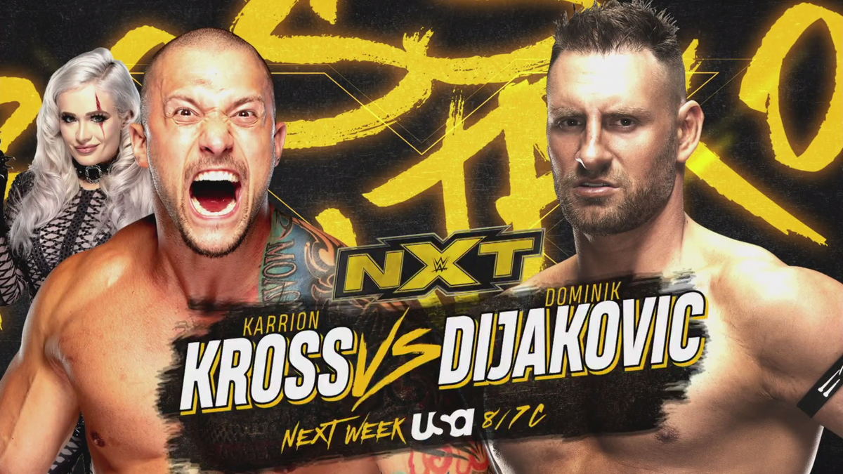 WWE NXT Announces Two Matches For Next Week's Episode