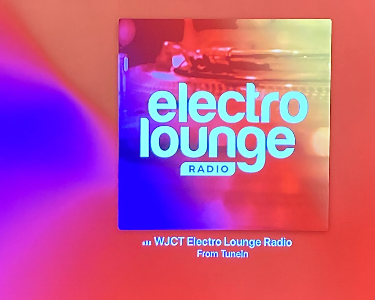 Chilling with @WJCTJax's new 24-hour Electro Lounge Radio station on my Apple TV 👌🏻👌🏻👌🏻
