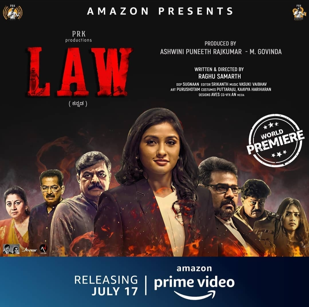 "Alert! ""Law"" is the first sandalwood movie to get directly released into #AmazonPrimeVideo. Countdown begins! The movie will be out tomorrow! Don't Miss! #PRKproductions #PuneethRajkumar #Law #Sandalwood #VasukiVaibhav #KannadaMovie #ottrelease"