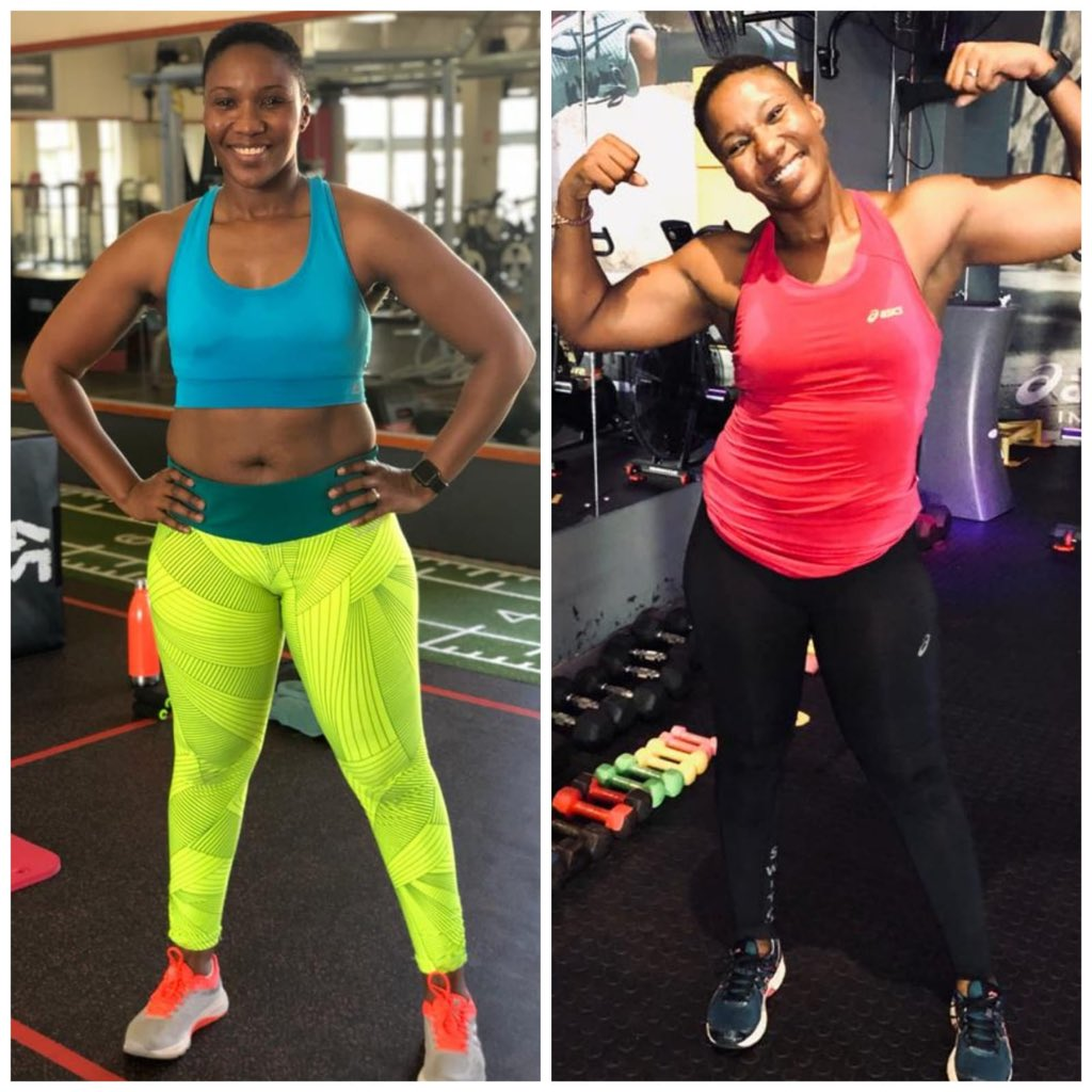 My trainer, Merryl posted this on Tuesday as one of her #TransformationTuesday post of her clients. I got so emotional.   I started training with Merryl because I wanted to get stronger. I still can't believe someone so kind and young could kick my ass like she did.