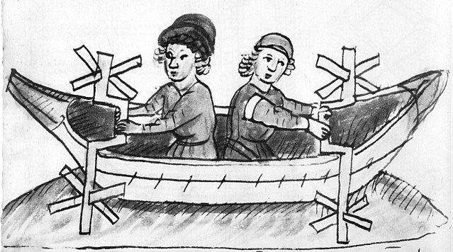 I just used this 15th century drawing as an inspiration for a boat made of scavenged flotsam by two enterprising brothers living on the river's edge. Got any cool watercraft in your books you'd like to talk about? #amwritingfantasy pic.twitter.com/U0TWBZX3hA