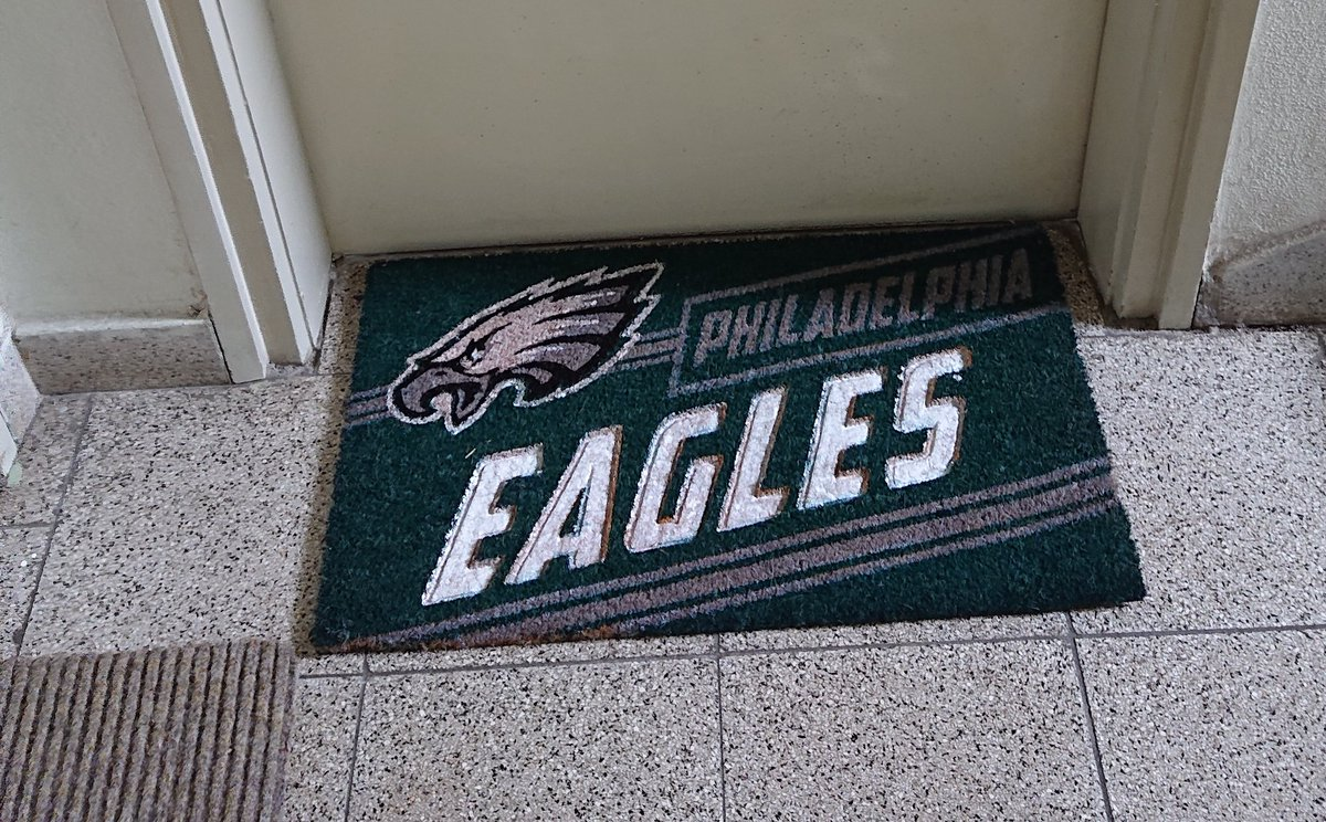 My new doormat. Home is where the Eagle is.  #FlyEaglesFly <br>http://pic.twitter.com/wc4MEejVHV