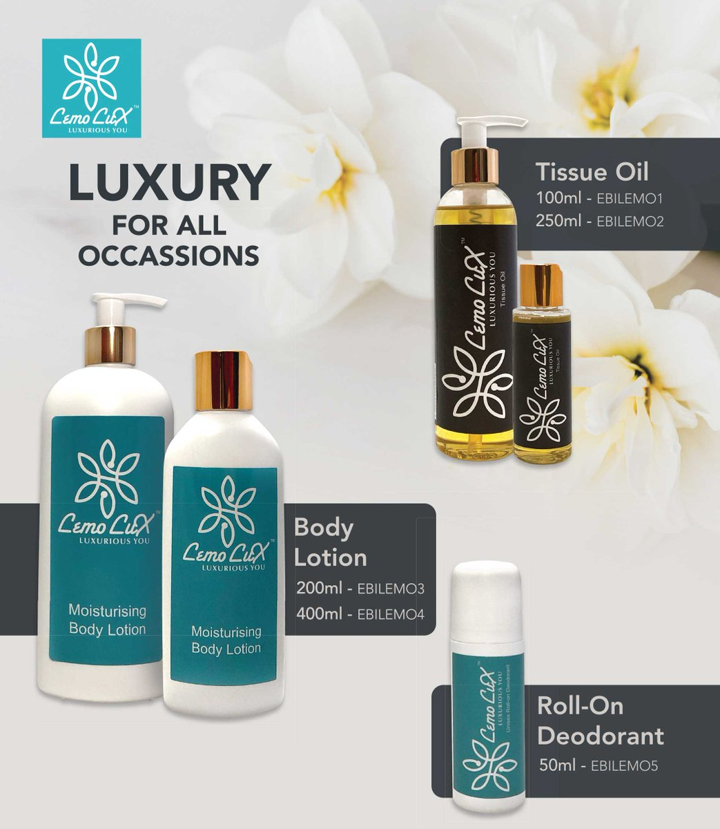 The Skin helps regulate body temperature and permits the sensations of touch, heat and cold. To ensure that you always have smooth skin, we have formulated a range of skin care product just for you.  #Lemolux #lemoluxbodycarerange  #smoothskin https://t.co/tN4Hab30gd