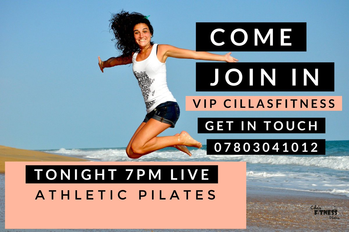 Athletic Pilates tonight 7pm LIVE come join us. Get in touch. Cilla x @whatsoninstock @WhatsOnOfferton @WhatsOnMelb @whatsonnotts @WhatsOnGlasgow @WhatsOnBrum @WhatsOnDubai @WhatsOnNW @WhatsOnStage @CILLAS_fitness https://t.co/EixiXy7hfV