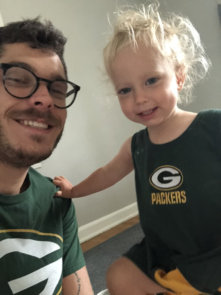 Rocking our #Packers gear this morning! #GoPackGo