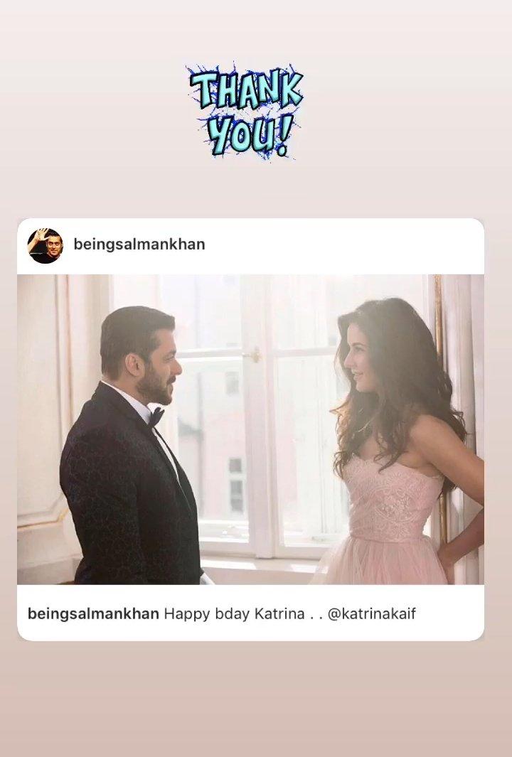#SalmanKhan new insta post crosses 1M again in 2hrs 10mins  !! Consecutive Strings of records!! 🔥 Biggest Fanbase of Biggest Megastar ❤️🤙  Credit : #Katrinakaif Insta story 👇