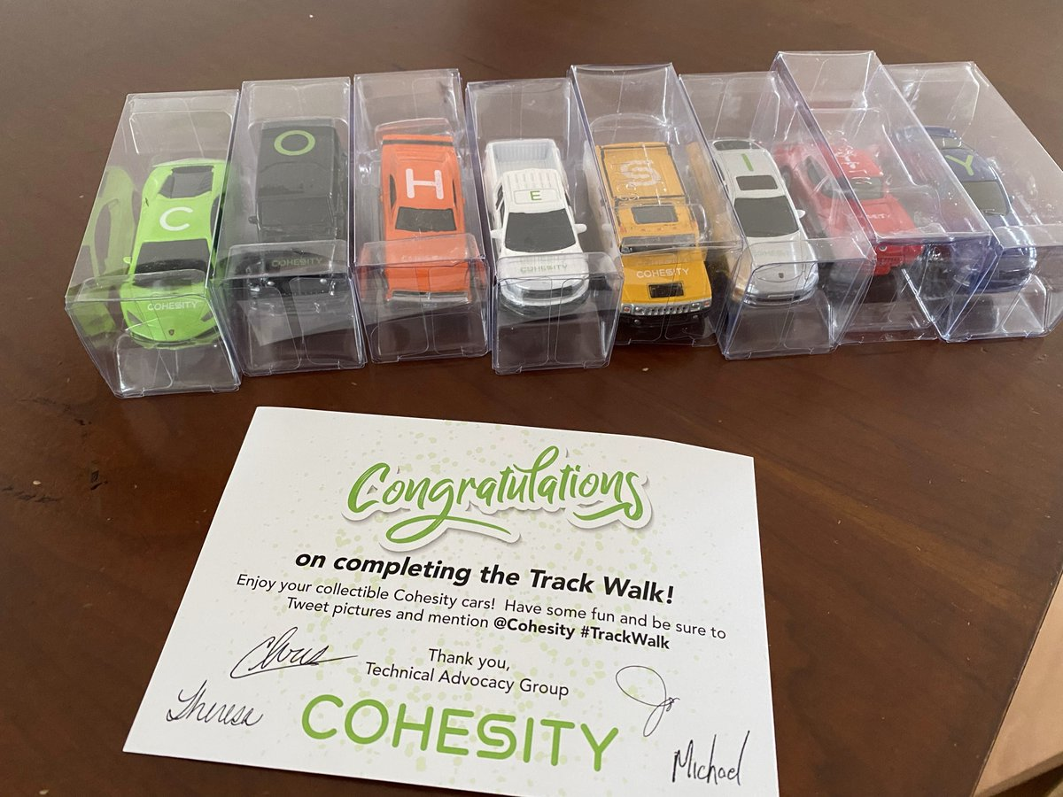 Thanks, @Cohesity - A few little people are going to love these! #trackwalk https://t.co/2H9hyzTaE3