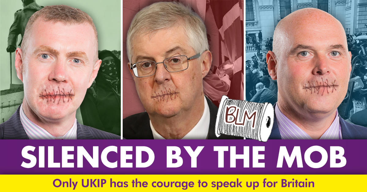 UKIP: RT CymruUKIP: They've surrendered to the #BlackLivesMatter mob. Only #UKIP will speak up for Britain. https://t.co/y5DNcRNYlu https://t.co/c3dDBSbD7s