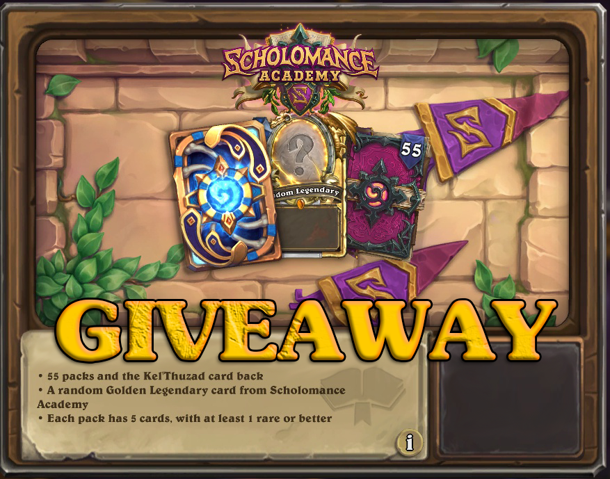 Blizzard have kindly provided me with 2 Scholomance Academy Bundles to give away! This contains - 55 Scholomance Academy card packs KelThuzad Card Back (1) random Scholomance Academy Golden Legendary card Just make sure to... Follow ✅ Retweet ✅ Draws will be 20/7