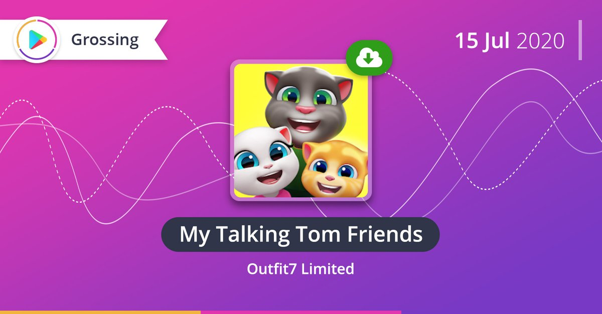 My Talking Tom Friends released a month ago is now the most downloadable #MobileGame of July on #GooglePlay. A sequel to the famous pet-simulation games got over 30M installs in 15 days.pic.twitter.com/snTQ4gzr23