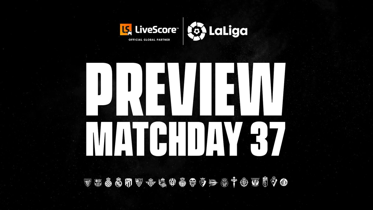 🍿 Real Madrid vs Villarreal CF 🍿 FC Barcelona vs C.A. Osasuna 🍿 Getafe CF vs Atletico de Madrid  A huge night in @LaLiga with 10 matches being played and the title on the line 🇪🇸🏆  Check out the Matchday 37 preview 👀  👉: https://t.co/91mLhFdYYI   #LaLigaSantander https://t.co/wC4torAOBb