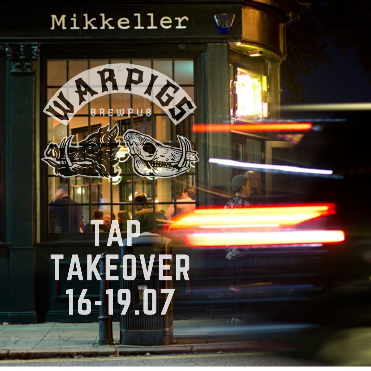Warpigs Tap Takeover 16-19.07  We're spreading the event across 4 days due to limited space. Beers also available to take away from the window!  Turbine Factory Session IPA  Frank the Tank Pale Ale  House of Dongo Brown Ale  Wheezin' the Juice NEIPA  Big Drunk Baby IIPA https://t.co/nI83zlFp3r