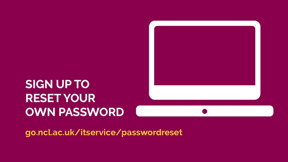 Don't get locked out of your IT account! Register now for self-service password resets, see https://t.co/LlZRywoOqj https://t.co/0r5XBPtVht