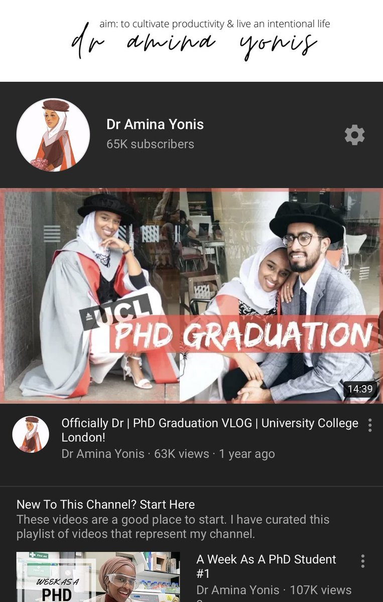 Hello 👋🏽 Let me introduce myself. I'm a PhD graduate from the field of cancer research. I've studied at KCL, Imperial & UCL. I also create YouTube videos about everything education, productivity, career & finance. I have 3mil+ views. Find me here: