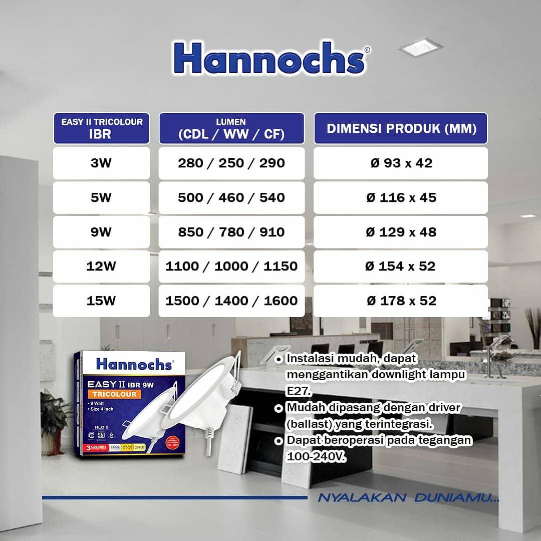 Hannochs LED Easy II Tricolour dapat beroperasi pada tegangan 100-240V , instalasi mudah karena bisa menggantikan downlight lampu E27 dan tersedia pilihan IBR & IBS   . Yukk ciptakan suasana ruangan sesuai keinginan ! . #Hannochs #NyalakanDuniaMu #LampuLED #Decorativelamp