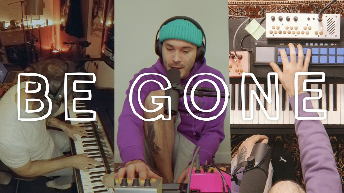 BE GONE (live at home) video coming out later today! 6pm 🇿🇦&🇪🇺 💜